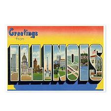 Illinois Postcard Postcards (Package of 8)