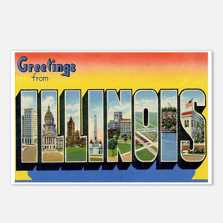 Illinois Postcard Postcards (Package of 8)