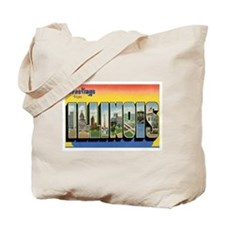 Illinois Postcard Tote Bag