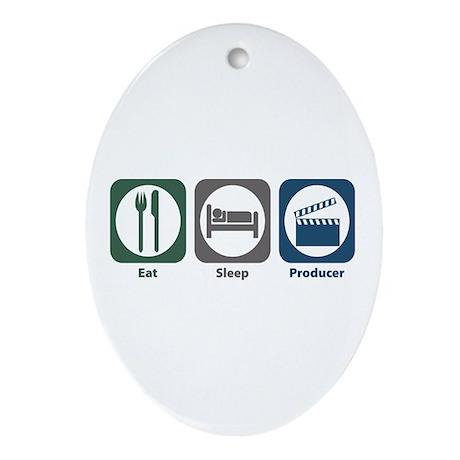 Eat Sleep Producer Oval Ornament