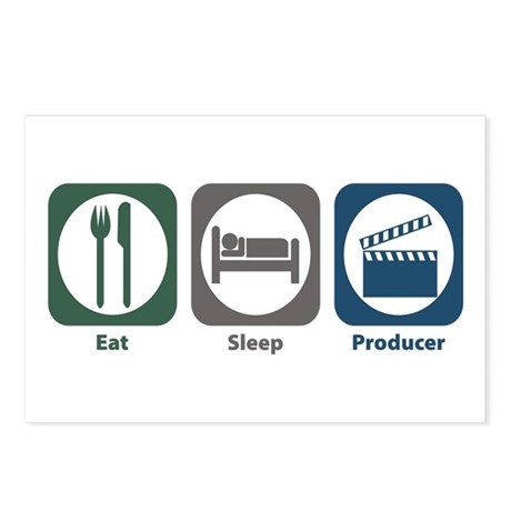 Eat Sleep Producer Postcards (Package of 8)