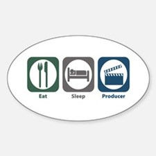 Eat Sleep Producer Oval Decal