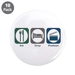 "Eat Sleep Producer 3.5"" Button (10 pack)"