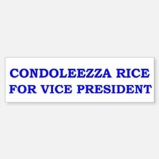 Condoleezza Rice for Vice President Bumper Bumper Sticker