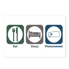 Eat Sleep Procurement Postcards (Package of 8)