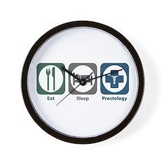 Eat Sleep Proctology Wall Clock