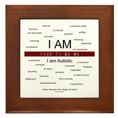 Autism ~ Free to be me Framed Tile