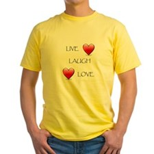 Live Laugh Love Hearts T