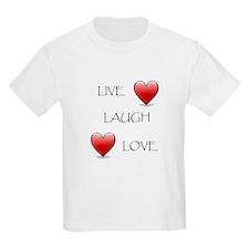 Live Laugh Love Hearts T-Shirt