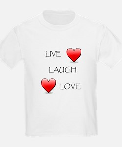 Live Laugh Love Hearts T-Shirt