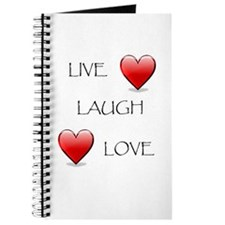 Live Laugh Love Hearts Journal