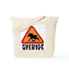 Sverige Elk Crossing Tote Bag