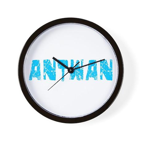 Antwan Faded (Blue) Wall Clock