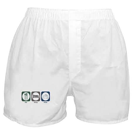 Eat Sleep Print Boxer Shorts