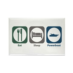 Eat Sleep Powerboat Rectangle Magnet (100 pack)