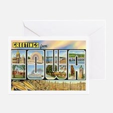 Iowa Postcard Greeting Card