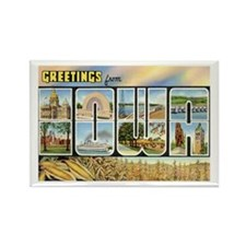Iowa Postcard Rectangle Magnet