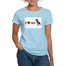 I Love [Heart] My Pussy.. cat Women's Pink T-Shirt