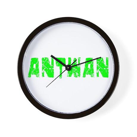 Antwan Faded (Green) Wall Clock