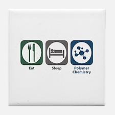 Eat Sleep Polymer Chemistry Tile Coaster