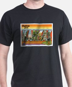 Kansas Postcard T-Shirt