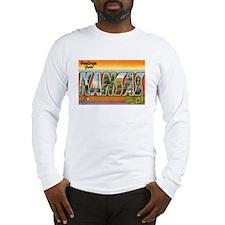Kansas Postcard Long Sleeve T-Shirt