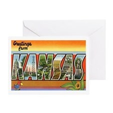 Kansas Postcard Greeting Card
