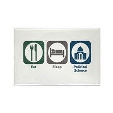 Eat Sleep Political Science Rectangle Magnet