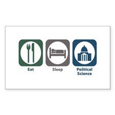 Eat Sleep Political Science Rectangle Decal