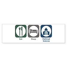 Eat Sleep Political Science Bumper Bumper Sticker