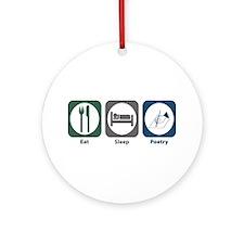 Eat Sleep Poetry Ornament (Round)