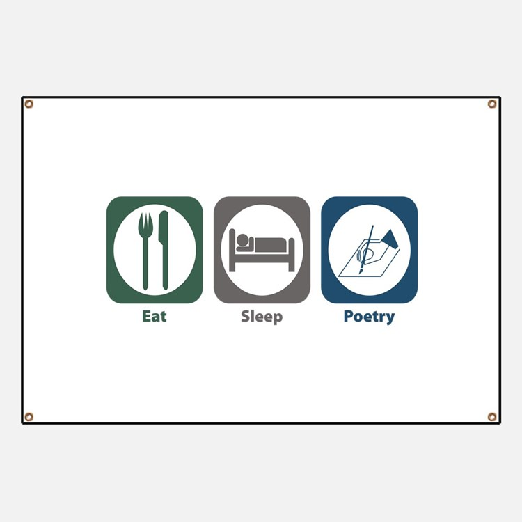 Eat Sleep Poetry Banner