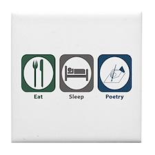 Eat Sleep Poetry Tile Coaster