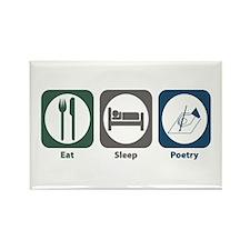 Eat Sleep Poetry Rectangle Magnet (10 pack)