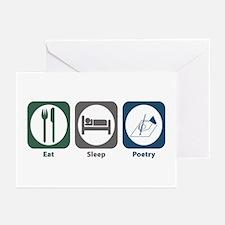 Eat Sleep Poetry Greeting Cards (Pk of 20)