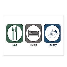 Eat Sleep Poetry Postcards (Package of 8)