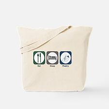 Eat Sleep Poetry Tote Bag