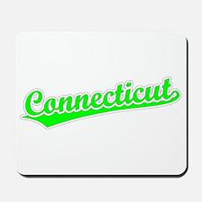 Retro Connecticut (Green) Mousepad