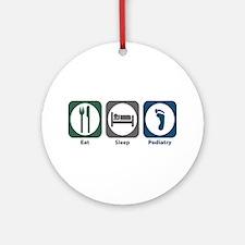 Eat Sleep Podiatry Ornament (Round)