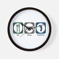 Eat Sleep Podiatry Wall Clock