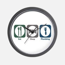 Eat Sleep Plumbing Wall Clock