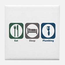 Eat Sleep Plumbing Tile Coaster