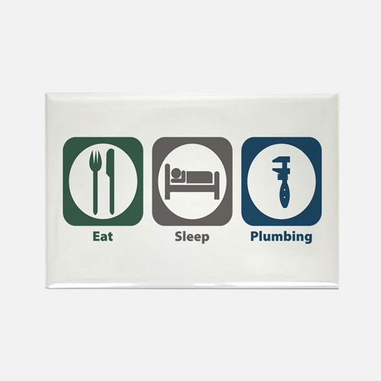 Eat Sleep Plumbing Rectangle Magnet