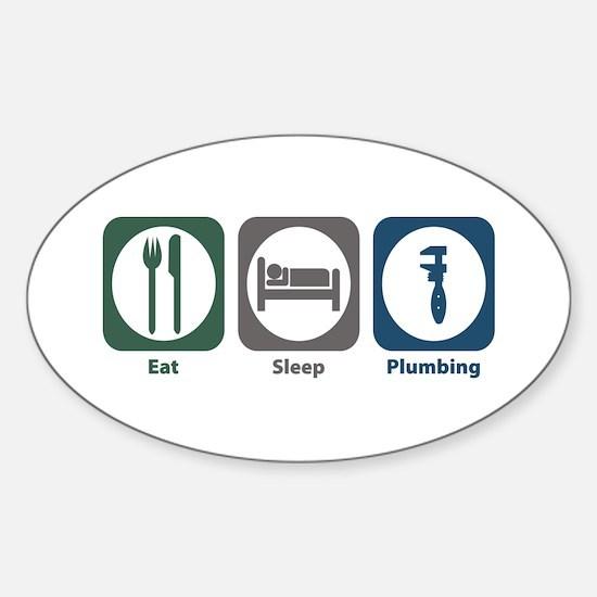 Eat Sleep Plumbing Oval Decal