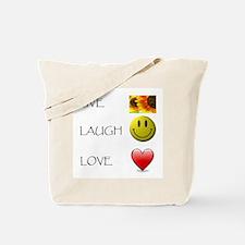 Live Laugh Love Heart Sunflow Tote Bag