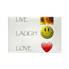 Live Laugh Love Heart Sunflow Rectangle Magnet