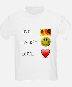 Live Laugh Love Heart Sunflow T-Shirt