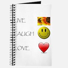 Live Laugh Love Heart Sunflow Journal