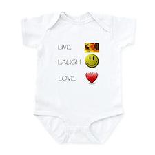 Live Laugh Love Heart Sunflow Infant Bodysuit