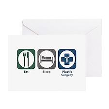 Eat Sleep Plastic Surgery Greeting Card
